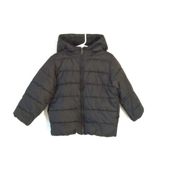 The Children's Place Other - Black Puffer Coat Jacket Toddler 4T